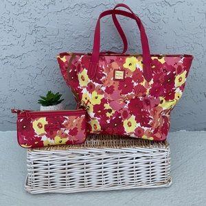 Dooney & Burke Bloom Leisure Tote Bag + Wallet